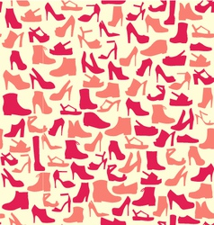 Pattern of fashion Footwear vector