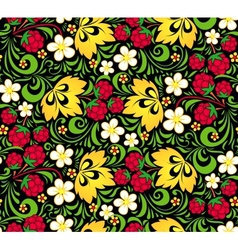 pattern traditional Russian style Hohloma vector image