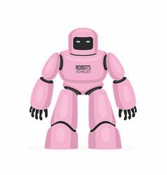 Pink robot vector