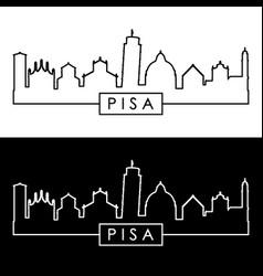 pisa skyline linear style editable file vector image