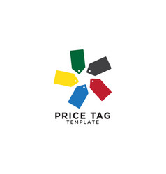 Price tag logo template vector