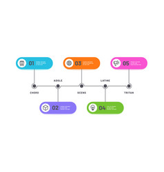 process infographic timeline with 5 steps vector image