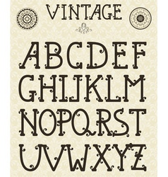 Retro Self Made Font vector image vector image