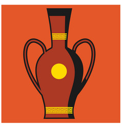 Rome amphora on white background vector