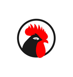Rooster logo template design vector