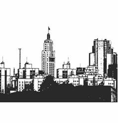 sao paulo skyline sketch vector image