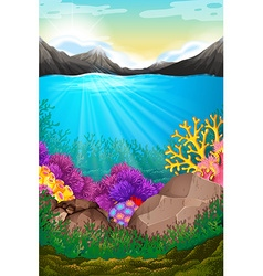 Scene with under the ocean vector