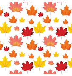 Seamless autumn leaves background pattern vector