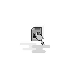 Search document web icon flat line filled gray vector