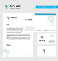 search in smart phone business letterhead vector image