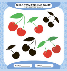 Shadow matching game find the correct shadows vector