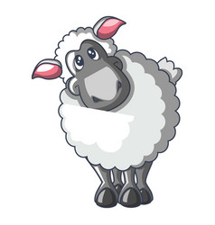 sheep icon cartoon style vector image