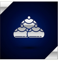 Silver jewish sweet bakery icon isolated on dark vector