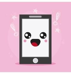 smartphone icon Kawaii and technology vector image