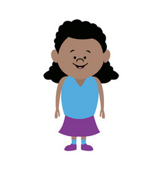 Standing woman character people cartoon vector