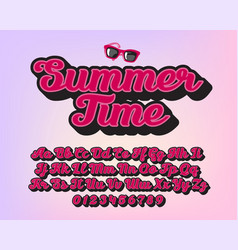 summet time - lettering alphabet vector image