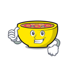 thumbs up soup union character cartoon vector image