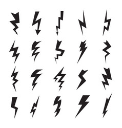 thunderbolt collection lightning electric flash vector image