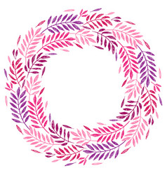 tropical palm leaves foliage wreath round frame vector image