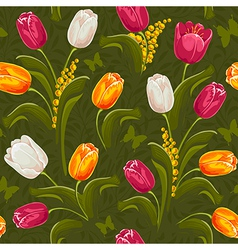 Tulip seamless vector