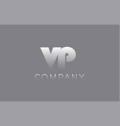 Vp v p pastel blue letter combination logo icon vector