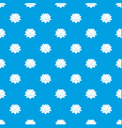 water lily flower pattern seamless blue vector image