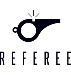 Whistle referee simple icon vector