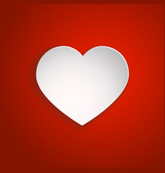 White paper cut love heart for valentine s day vector