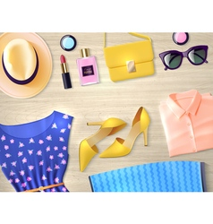 Woman Clothing Set Flat vector image