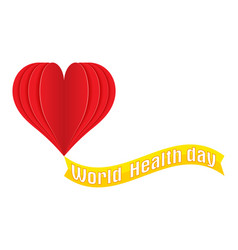 world health day logo text banner vector image