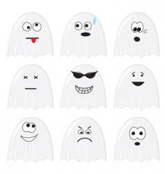 cartoon ghosts vector image