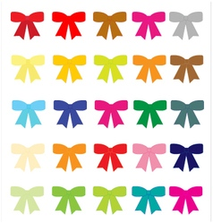 Collection colorful bows vector image