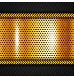 Golden metallic surface vector image vector image