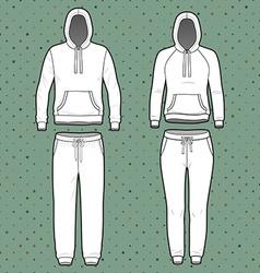 Hoodi and sweatpants set vector image vector image