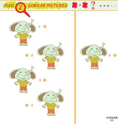 identical two pictures vector image vector image
