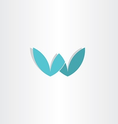 letter w stylized logo design vector image vector image