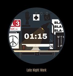 modern office workspace Freelance night vector image vector image