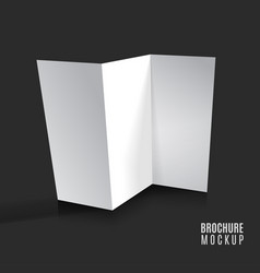 blank tri-fold brochure design isolated vector image vector image