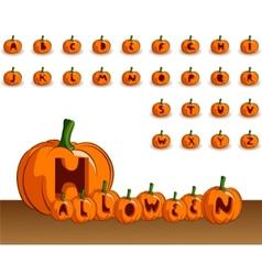 halloween alphabet vector image vector image