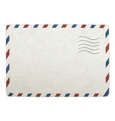 old envelope template vector image vector image