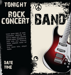 rock concert grunge background vector image