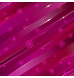 abstract linear background with flowers for design vector image vector image
