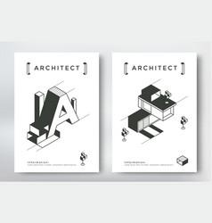 architecture cover design vector image vector image