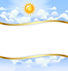 cloudy day template vector image