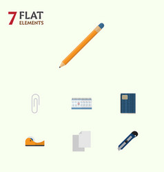 flat icon equipment set of fastener page drawing vector image vector image