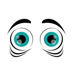 frightened cartoon eyes icon vector image vector image