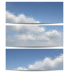 Triangular Clouds in the Sky Background Set vector image vector image