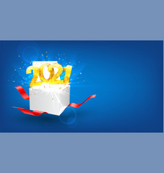 2021 happy new year holiday background vector image