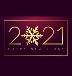 2021 new year gold snowflake vintage vector