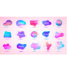 3d gradient spots set with line shapes vector image